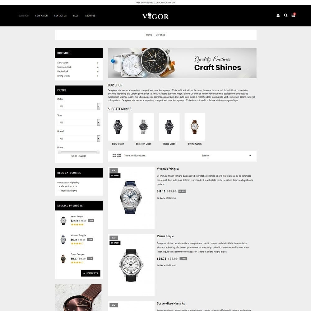 theme - Fashion & Shoes - Vigor - The Watch Store - 5