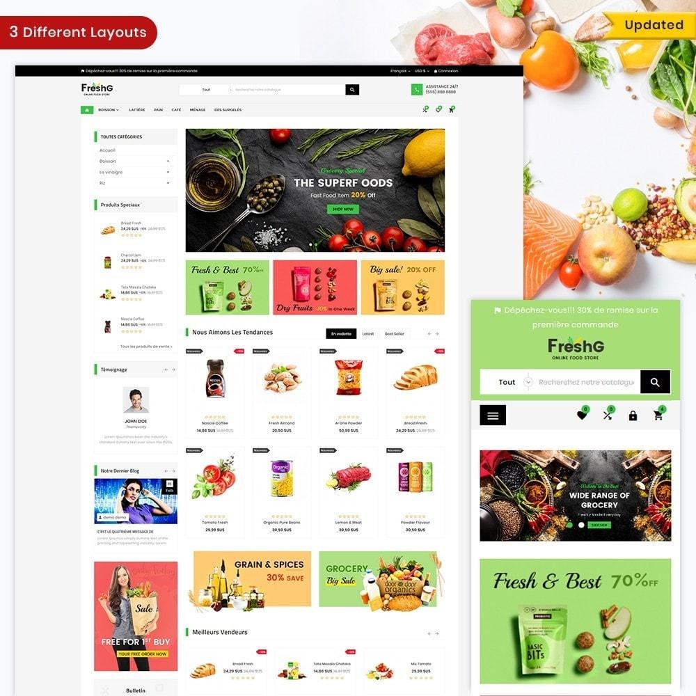 theme - Alimentation & Restauration - Épicerie FreshG Superstore v3 - 2