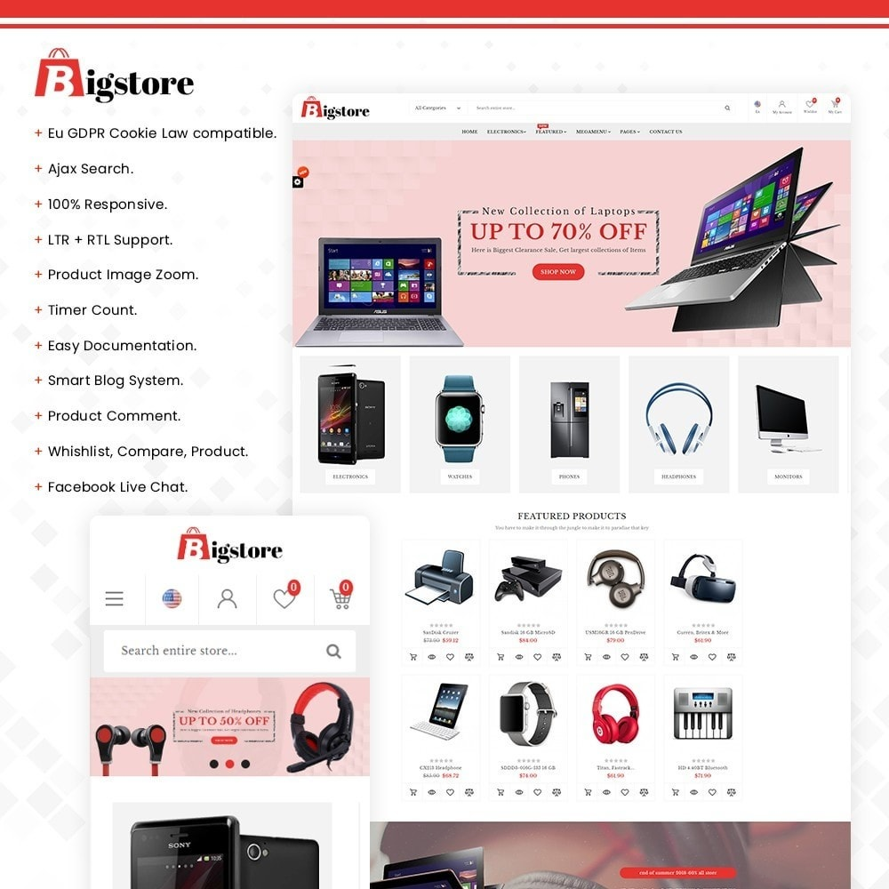 theme - Electronics & Computers - Bigstore - Multipurpose Mega Electronics Store - 1