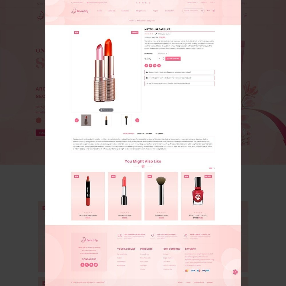 theme - Salud y Belleza - Beautify – Beauty & Cosmetic & health Store - 12