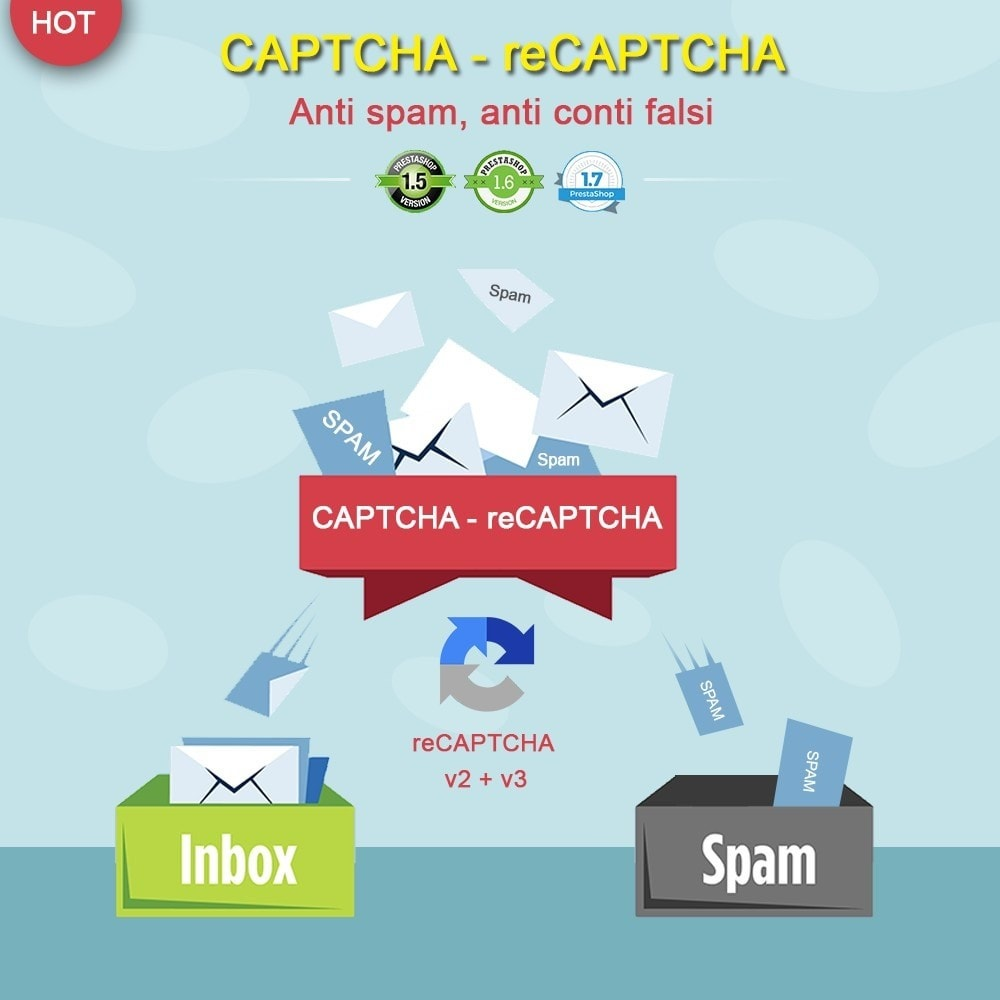 module - Security & Access - CAPTCHA - reCAPTCHA - Anti spam - Anti conti falsi - 1