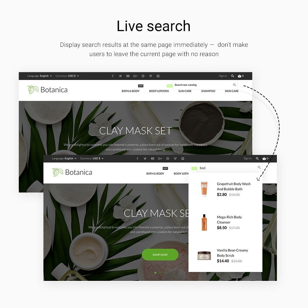 theme - Salud y Belleza - Botanica Cosmetics - 6