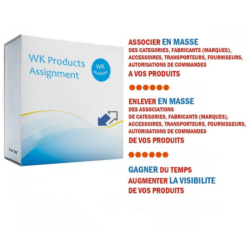 module - Edition rapide & Edition de masse - Wk Affectations de produits - 1