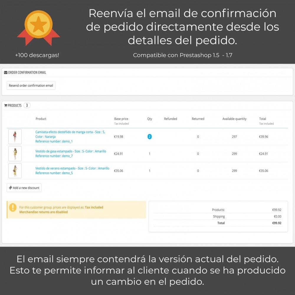 module - E-mails y Notificaciones - Reenviar email de confirmación de pedido - 1