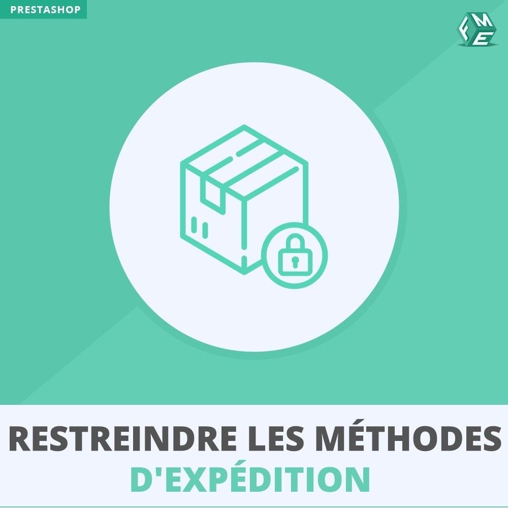 module - Livraison & Logistique - Restreindre Les Méthodes D'expédition - 1
