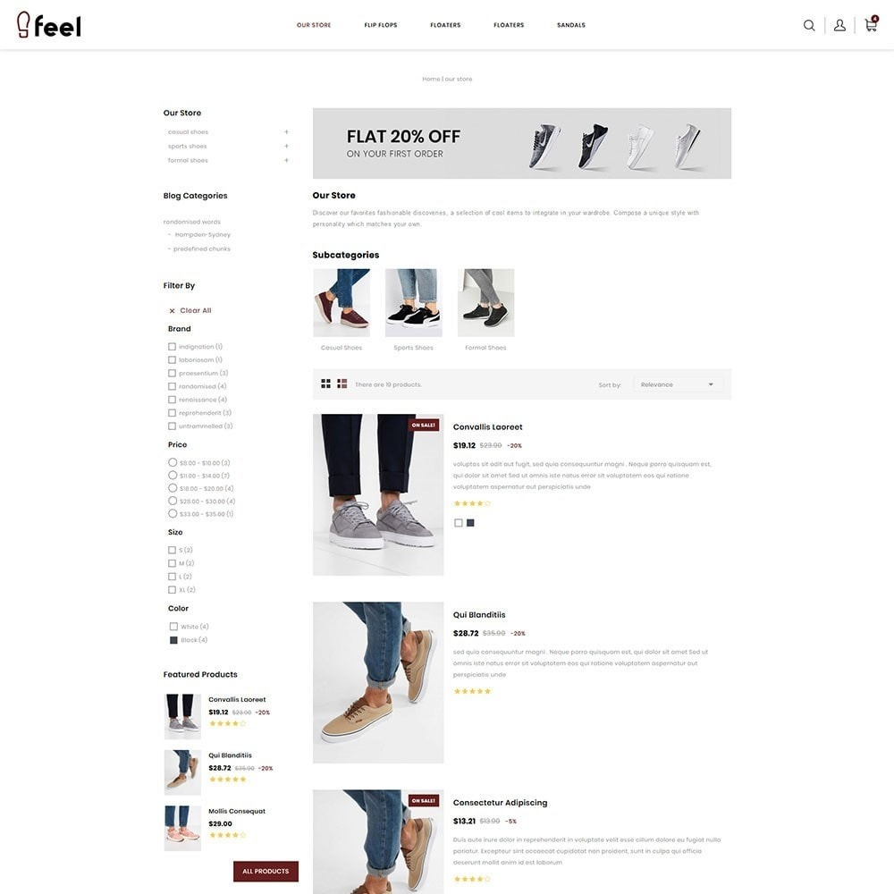 theme - Мода и обувь - Feel - The Shoe Store - 5