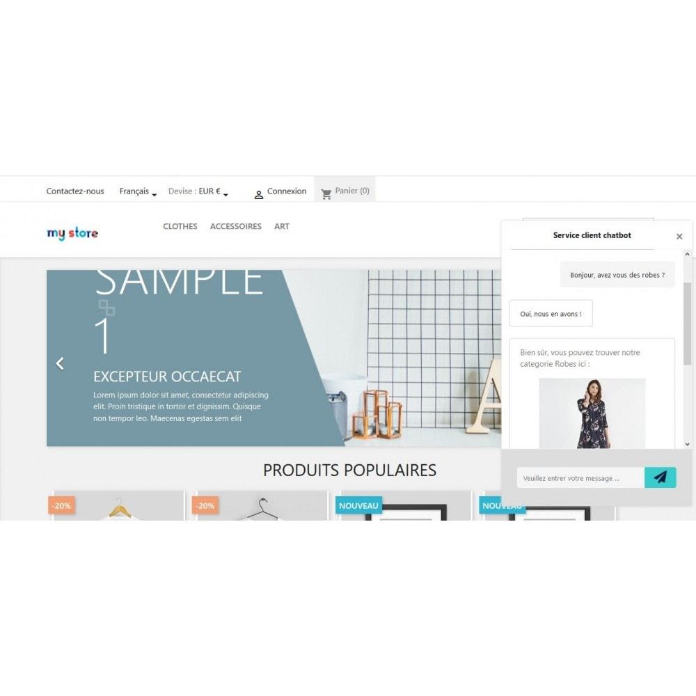 module - Support & Chat Online - Chatbot Google Dialogflow - 1