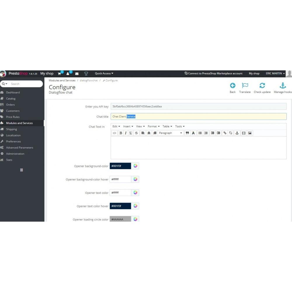 module - Support & Chat Online - Chatbot Google Dialogflow - 3