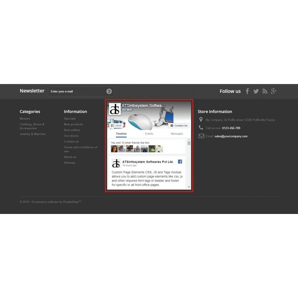 module - Sociale Widgets - Social Feed Widgets | Like box & feeds - 7