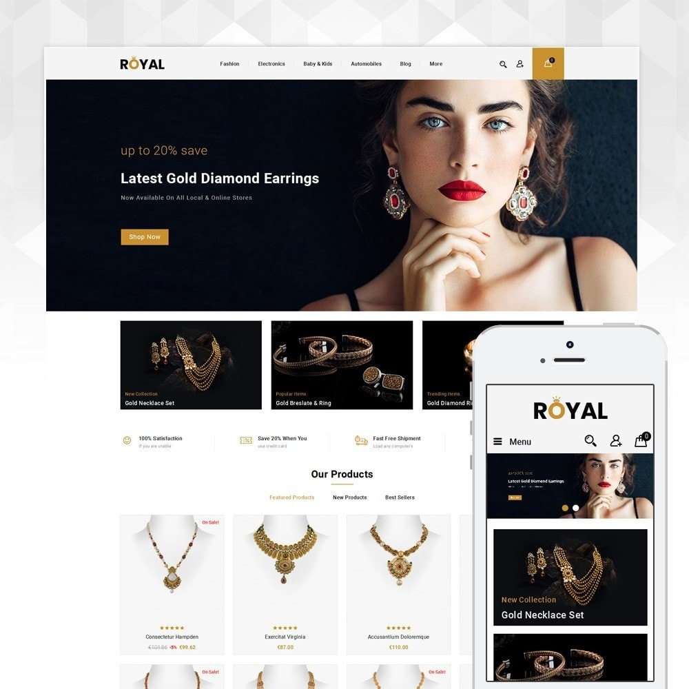 theme - Bellezza & Gioielli - Royal - Jewellery Store - 1
