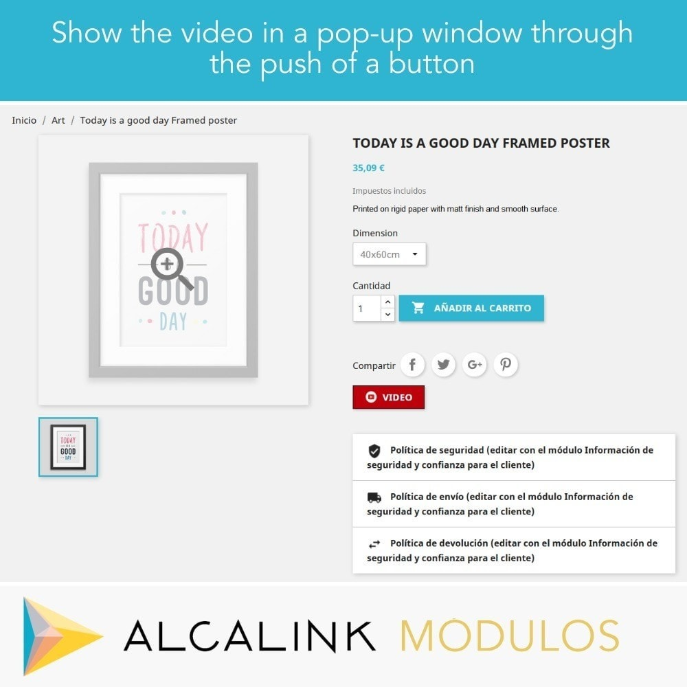 module - Video's & Muziek - Video in Product Sheet - Youtube, Dailymotion... - 4