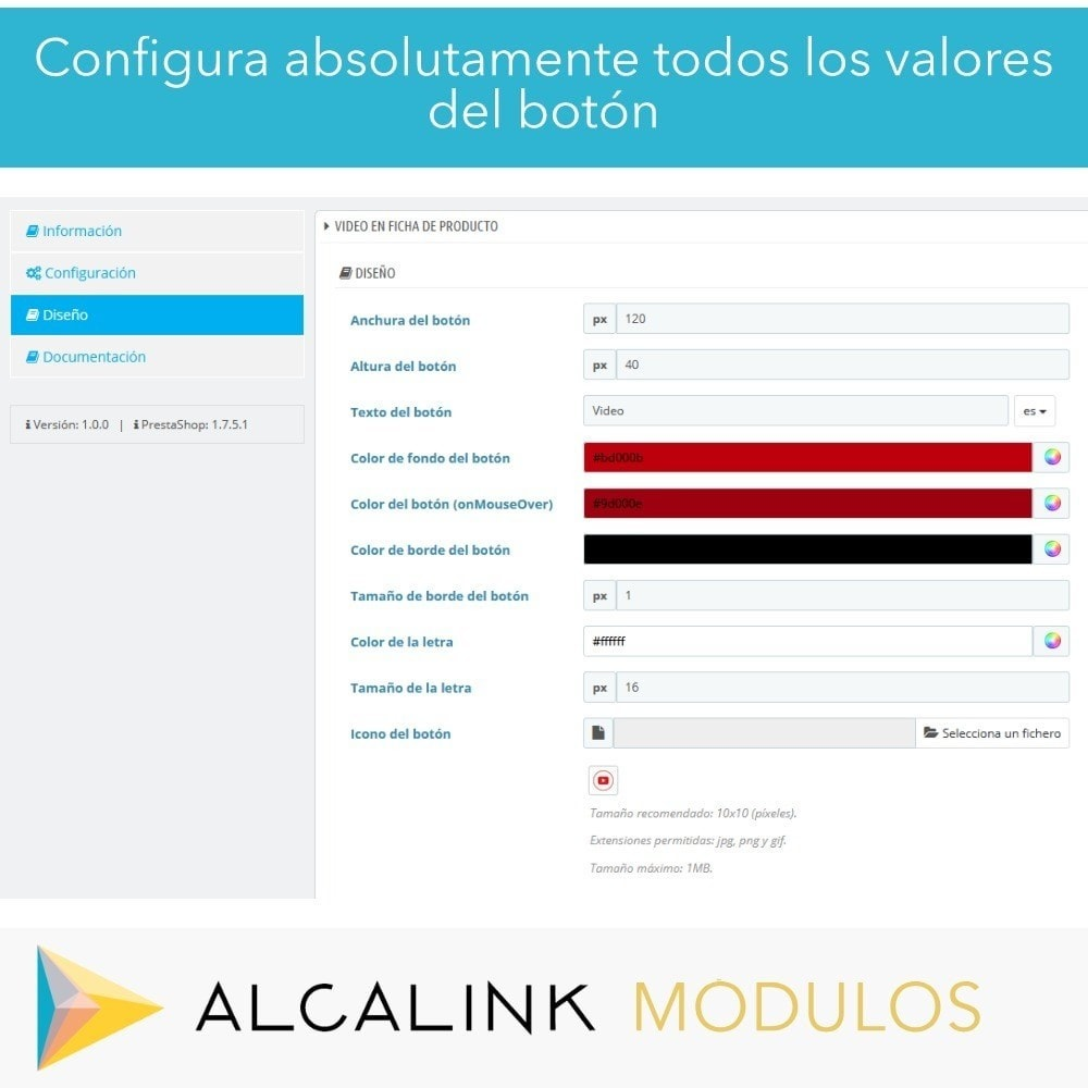 module - Vídeos y Música - Vídeo en Ficha Producto - Youtube, Dailymotion... - 3