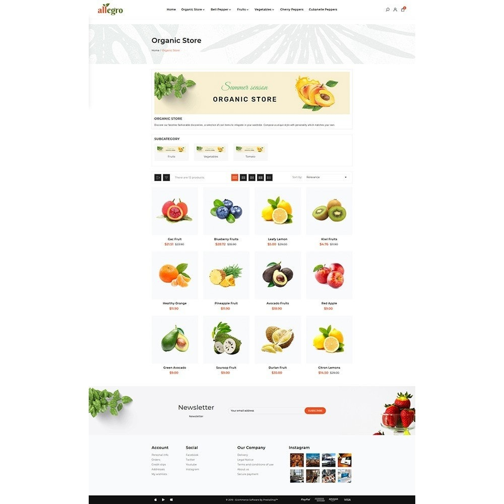 theme - Gesundheit & Schönheit - Orgánica - Organic Fresh Mall - 3