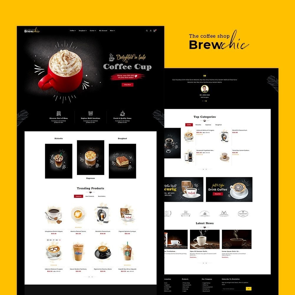 theme - Drink & Tobacco - Brew Chic - Coffee Shop - 2
