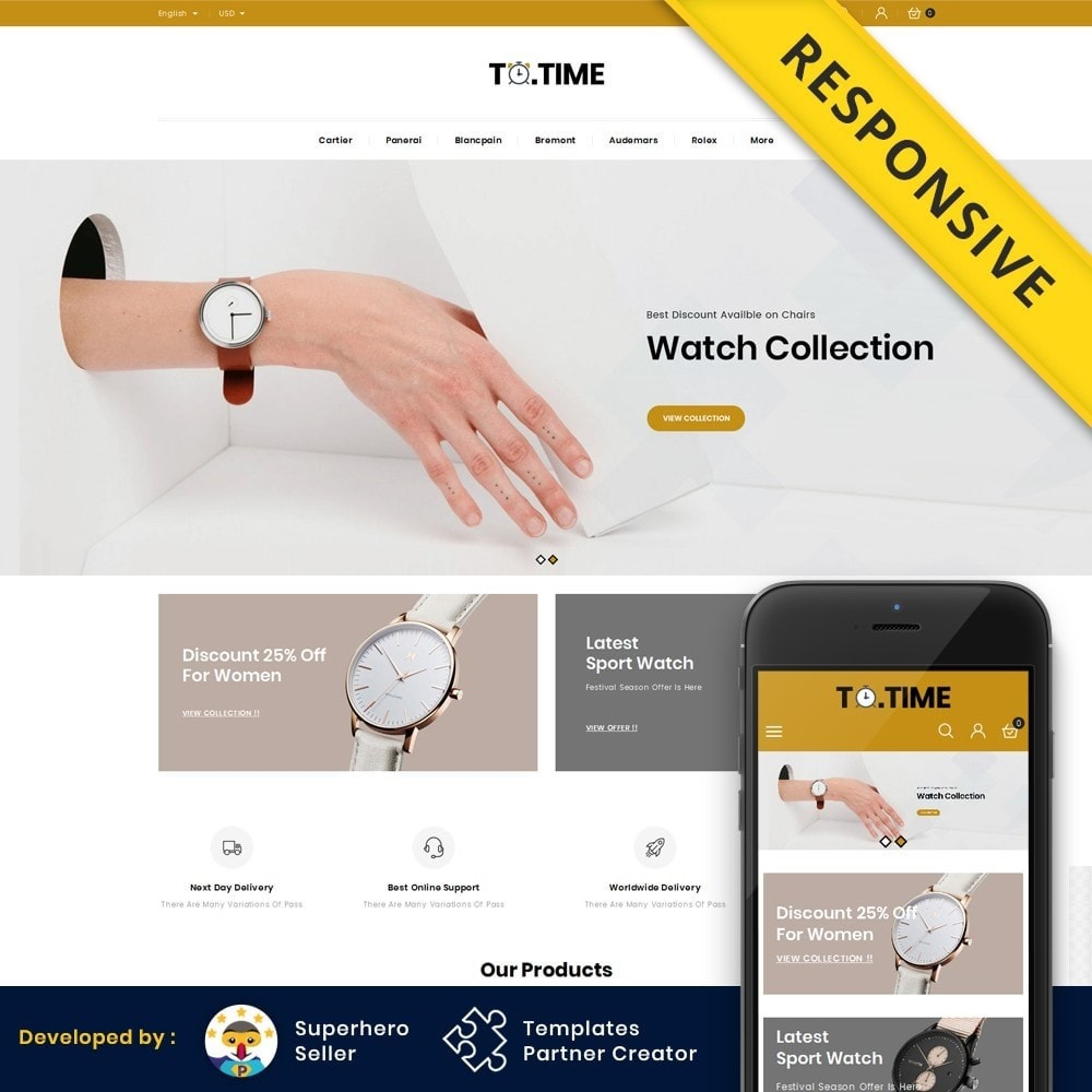 theme - Bellezza & Gioielli - ToTime - Watches Store - 1