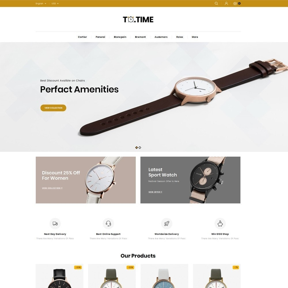 theme - Bellezza & Gioielli - ToTime - Watches Store - 2