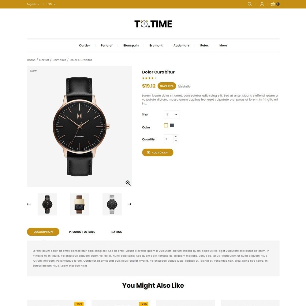 theme - Bellezza & Gioielli - ToTime - Watches Store - 4