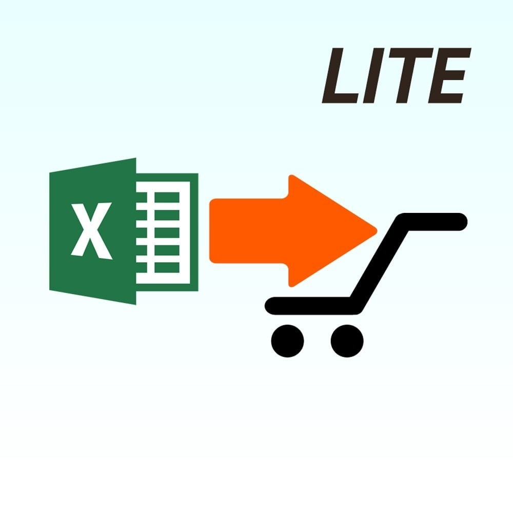 module - Import & Eksport danych (csv, pdf...) - Import product from Microsoft Excel Lite version - 1