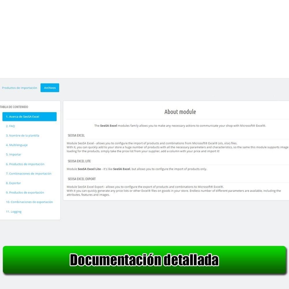 module - Importación y Exportación de datos - Importar producto de la versión Microsoft Excel Lite - 8