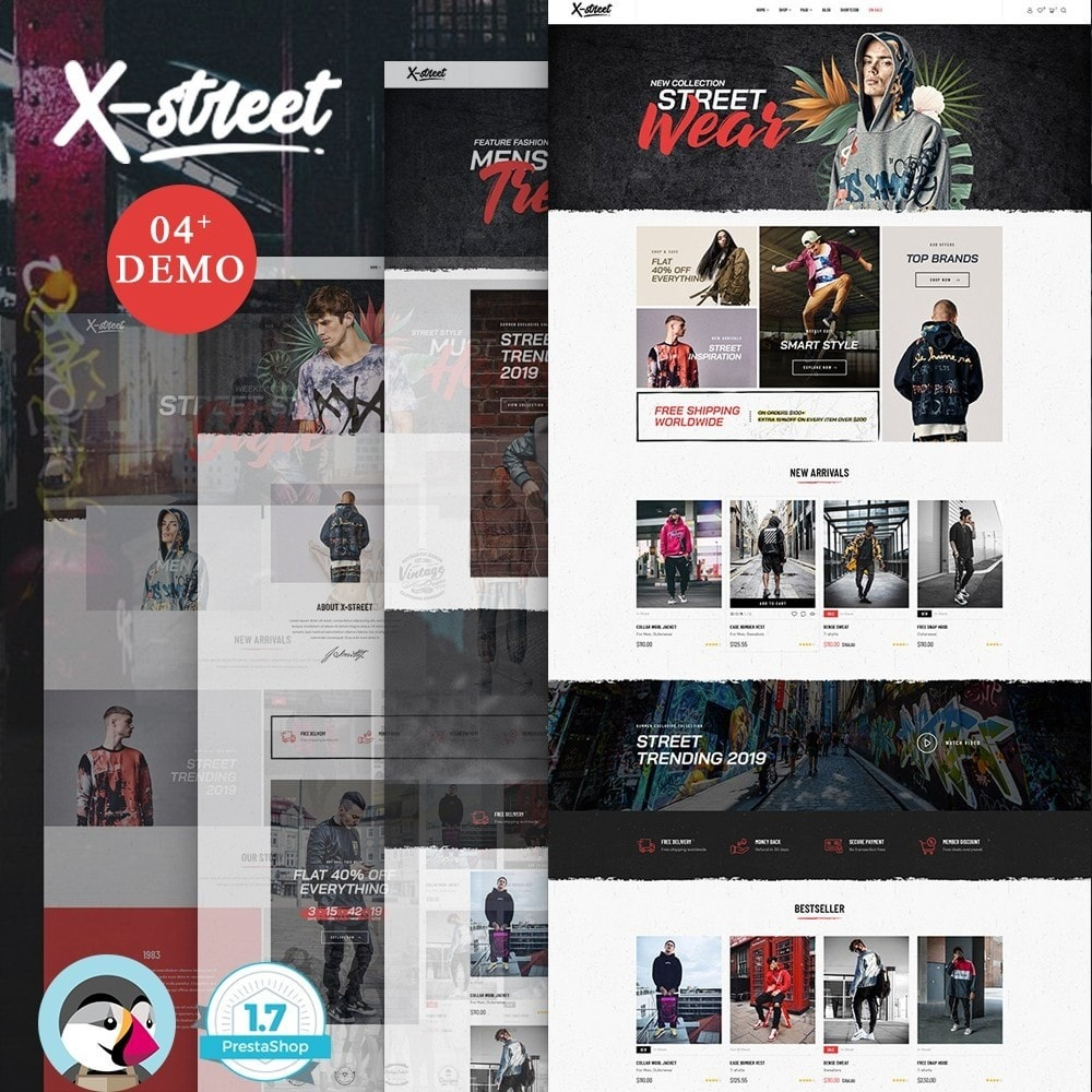 theme - Fashion & Shoes - Leo Xstreet - Street Style Fashion Store - 1