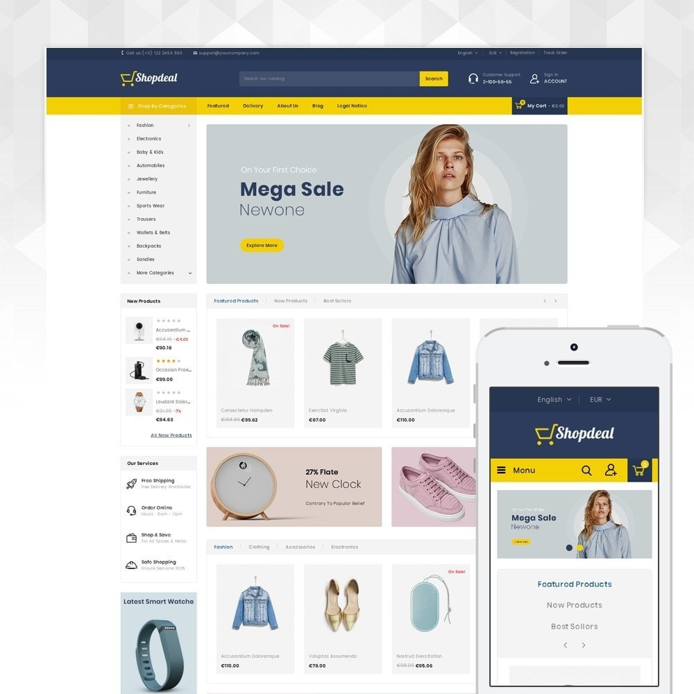 theme - Fashion & Shoes - ShopDeal - Mega Store - 1