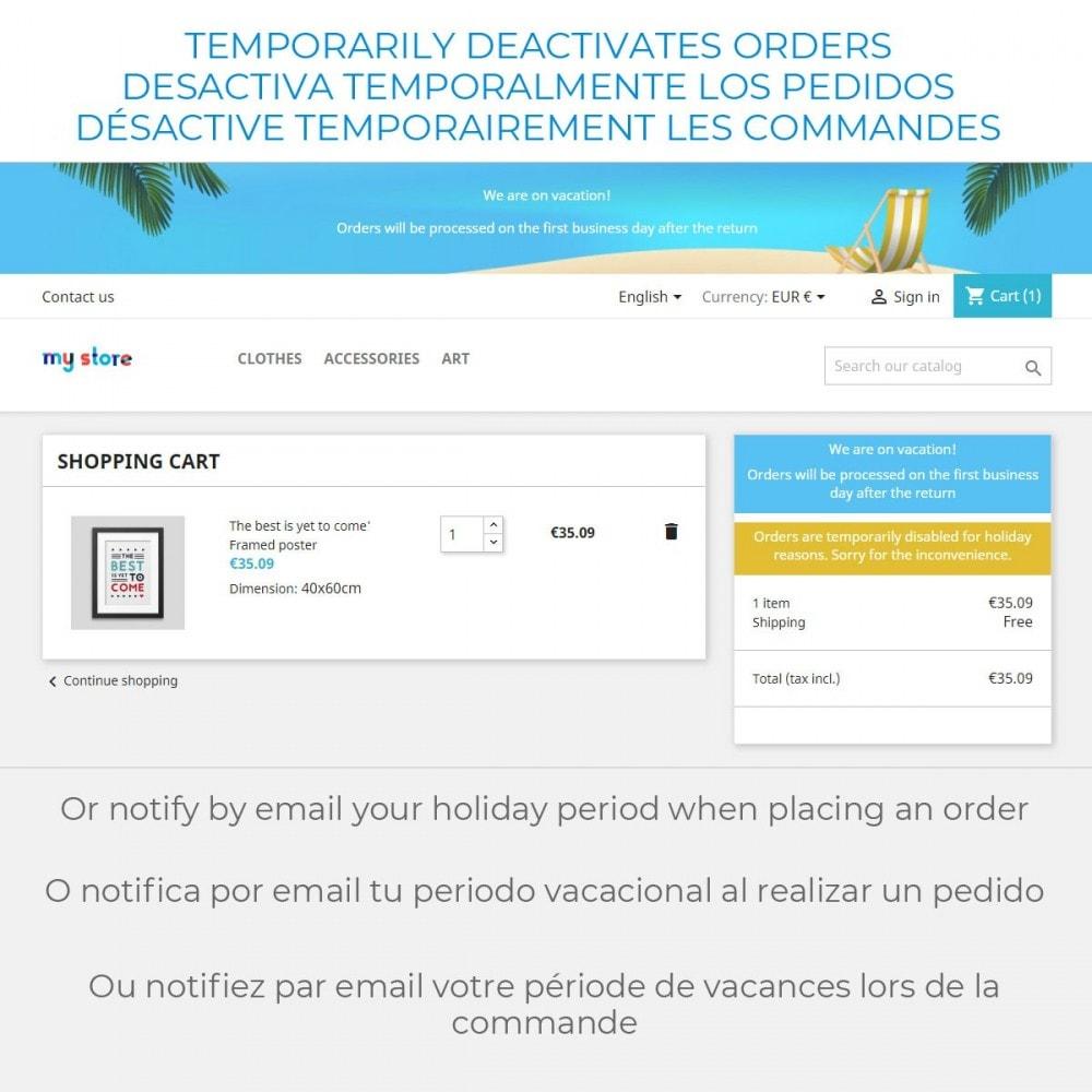 module - Servicio posventa - Aviso de Vacaciones - 4