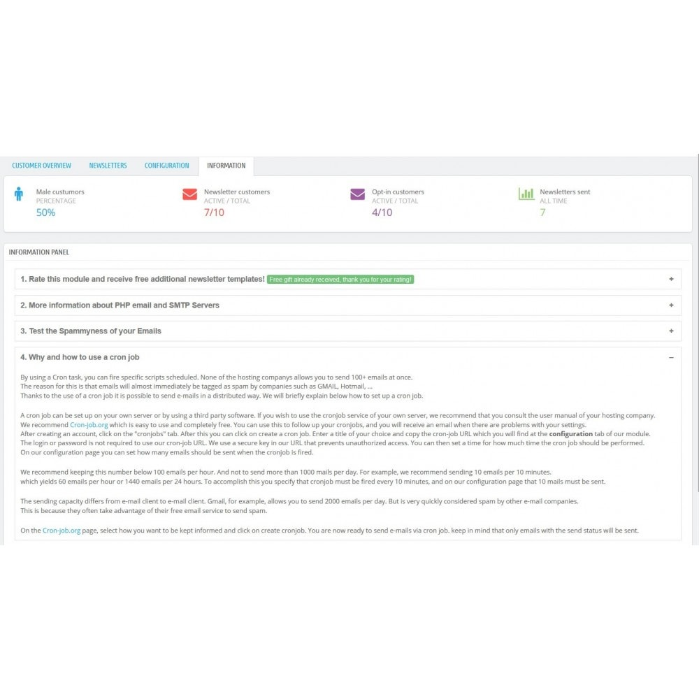 module - Newsletter & SMS - Newsletter build and send - 11