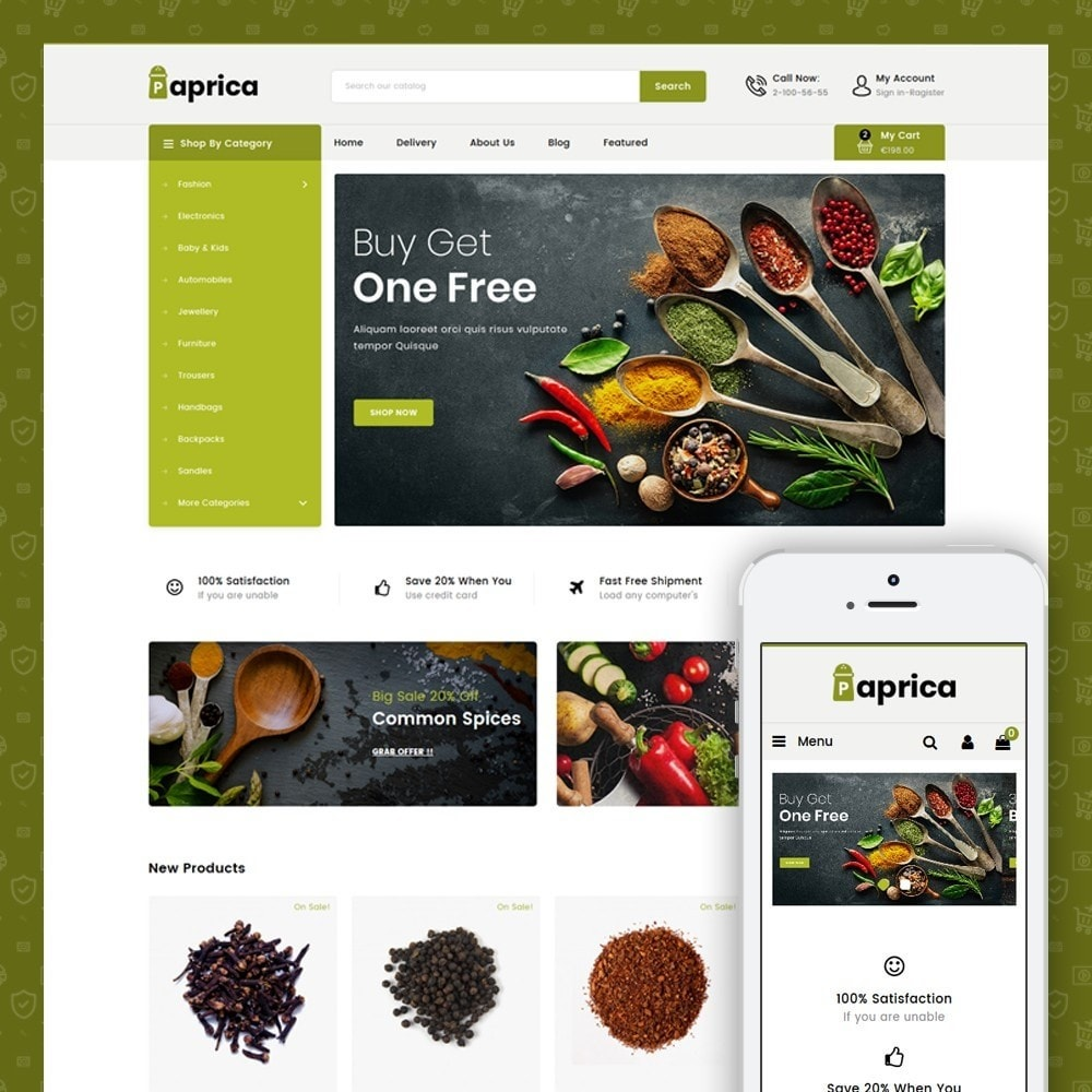 theme - Food & Restaurant - Paprica - Spice Store - 1