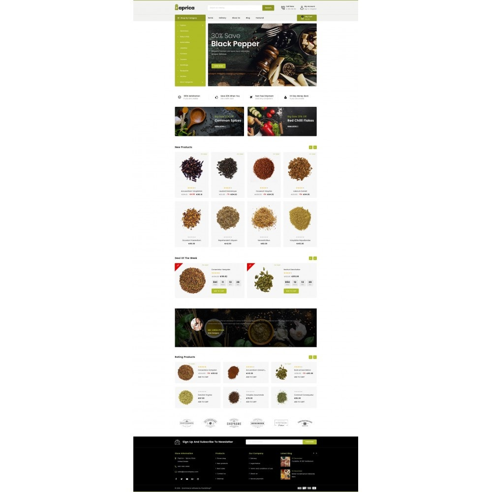 theme - Food & Restaurant - Paprica - Spice Store - 2