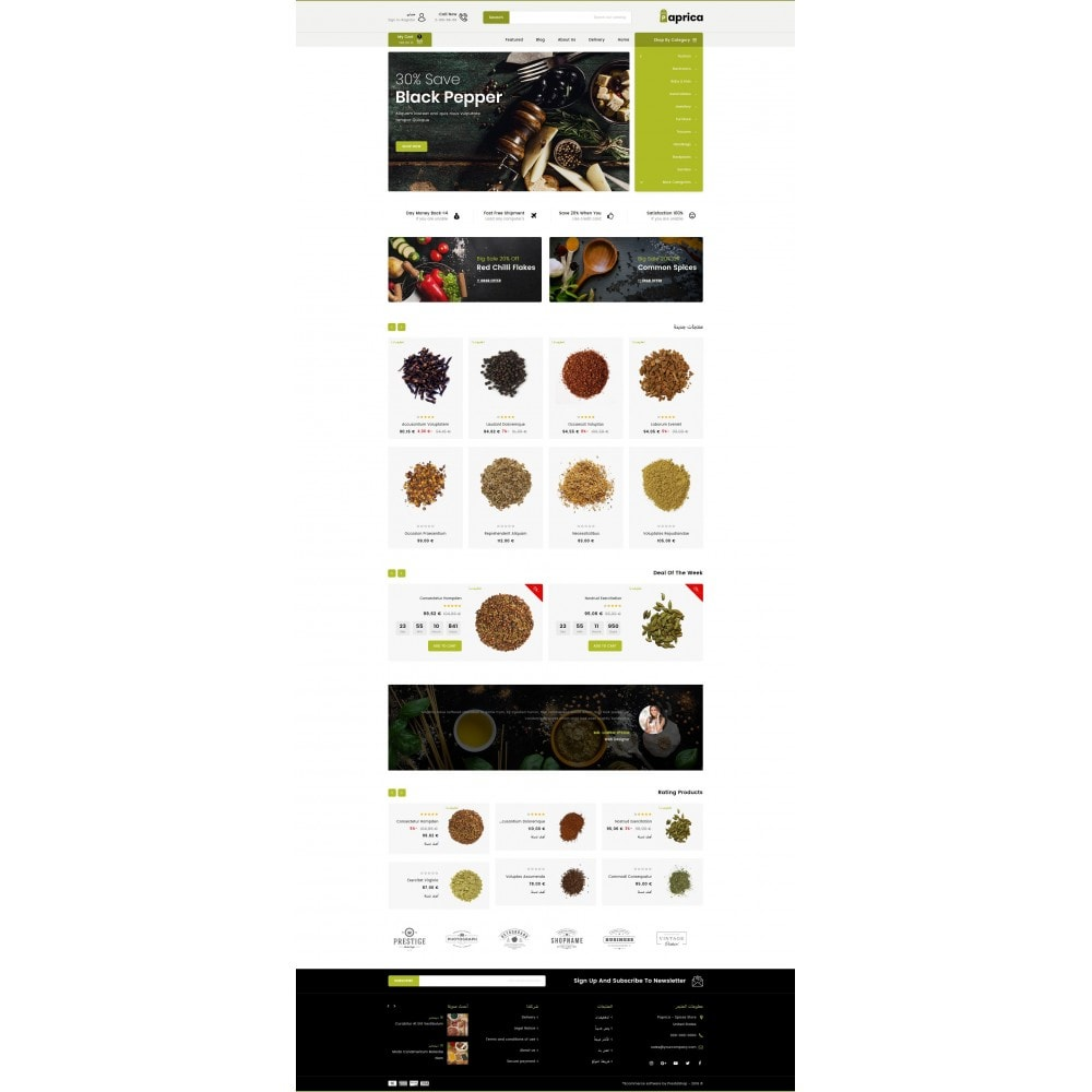 theme - Food & Restaurant - Paprica - Spice Store - 10