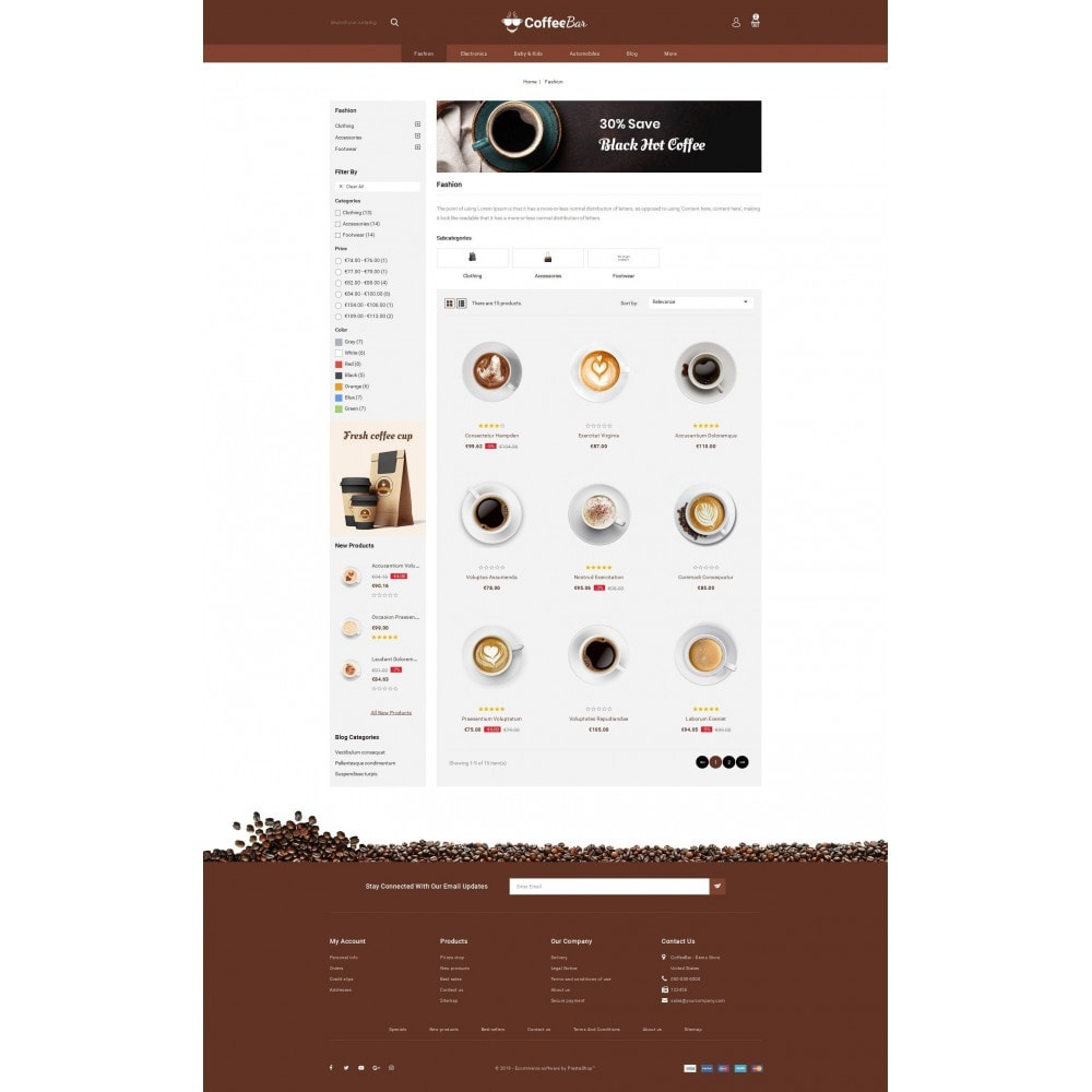 theme - Alimentation & Restauration - The Coffee Shop - 3
