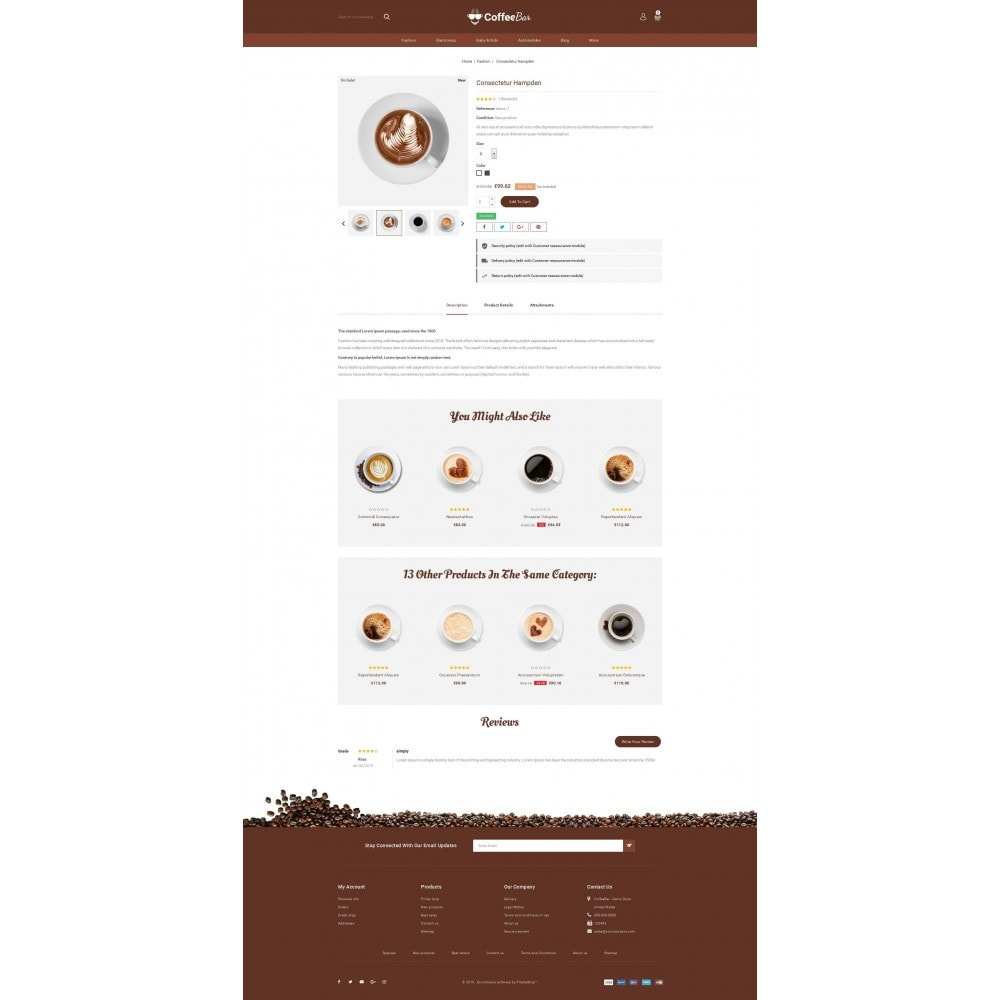 theme - Alimentation & Restauration - The Coffee Shop - 5