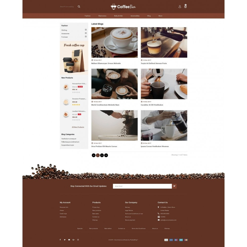 theme - Alimentation & Restauration - The Coffee Shop - 9