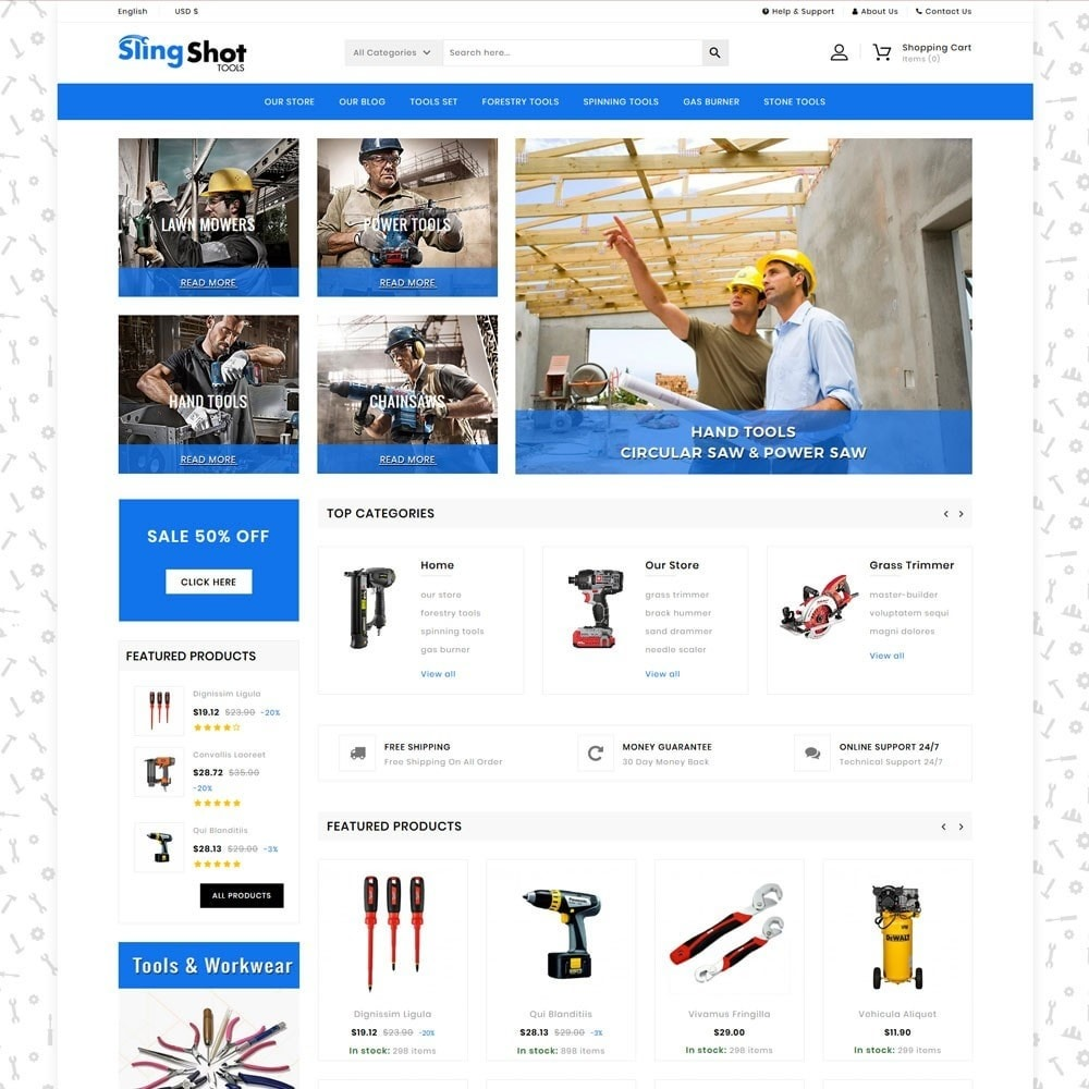theme - Automotive & Cars - Slinshot - The Tool Store - 3