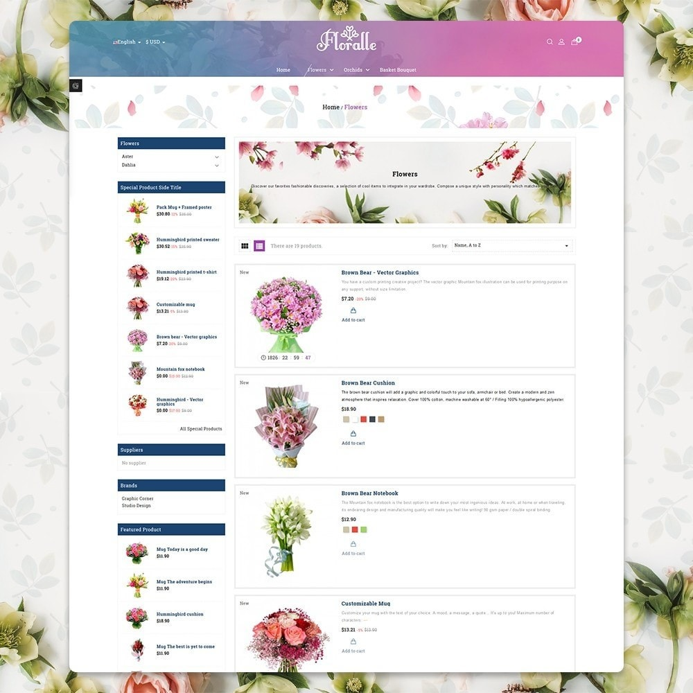 theme - Gifts, Flowers & Celebrations - Flower Store  - Floralle Responsive Template - 4