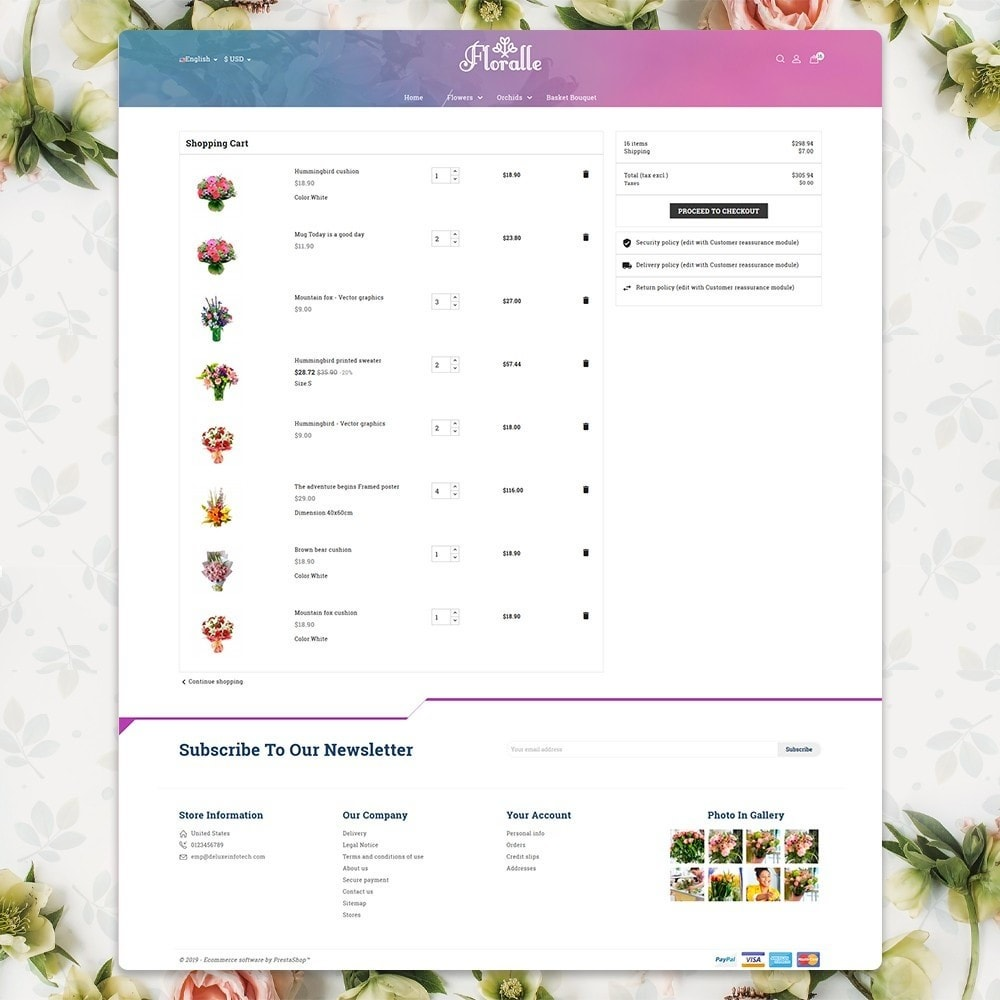 theme - Gifts, Flowers & Celebrations - Flower Store  - Floralle Responsive Template - 6