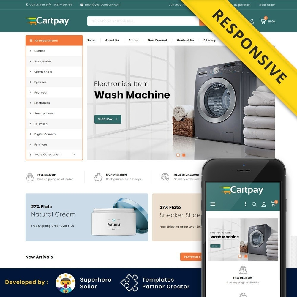 theme - Elektronica & High Tech - Cartpay - Mega Store - 1