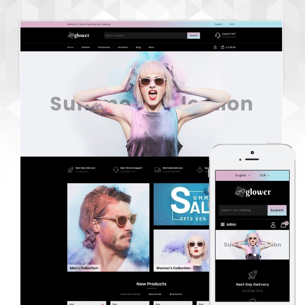theme - Fashion & Shoes - Glower Goggles Store - 1