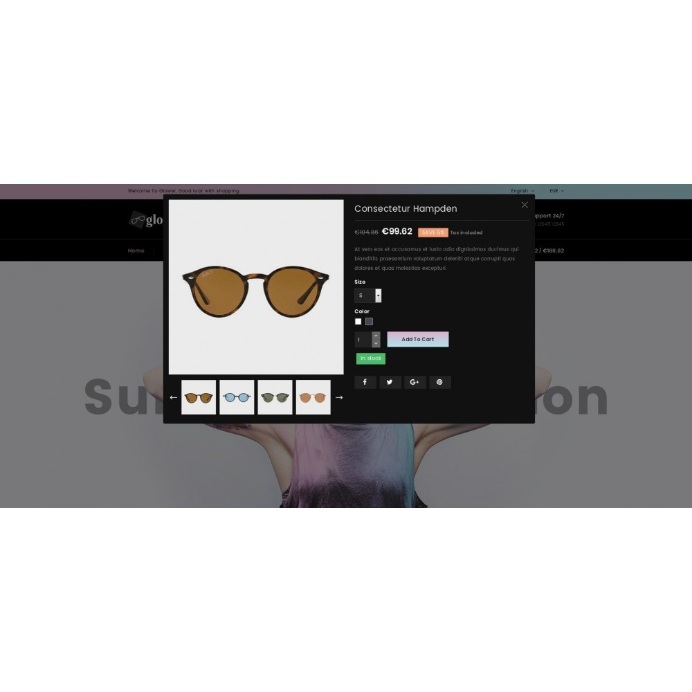 theme - Fashion & Shoes - Glower Goggles Store - 6