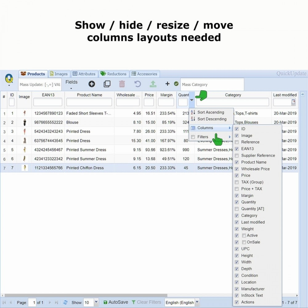 module - Edición Rápida y Masiva - QuickUpdate Products Manager LITE - 4