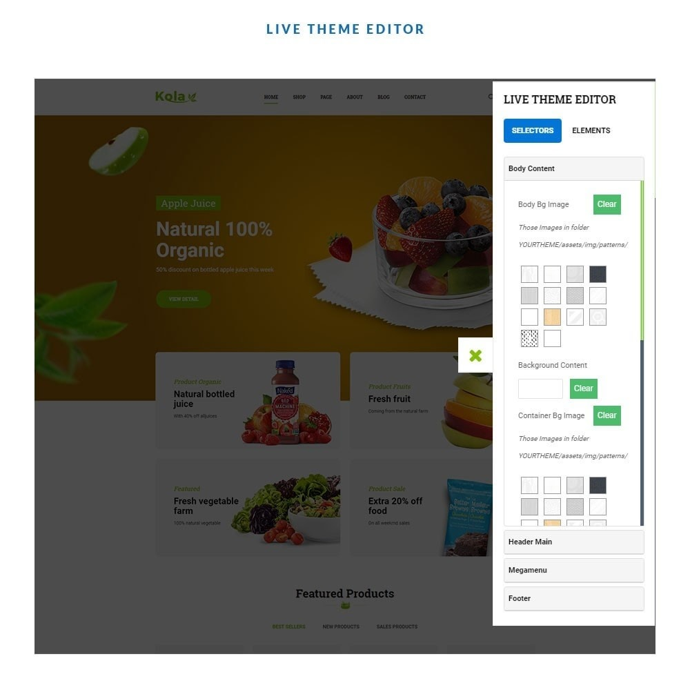 theme - Gastronomía y Restauración - Kola – Organic & Food Store - 6