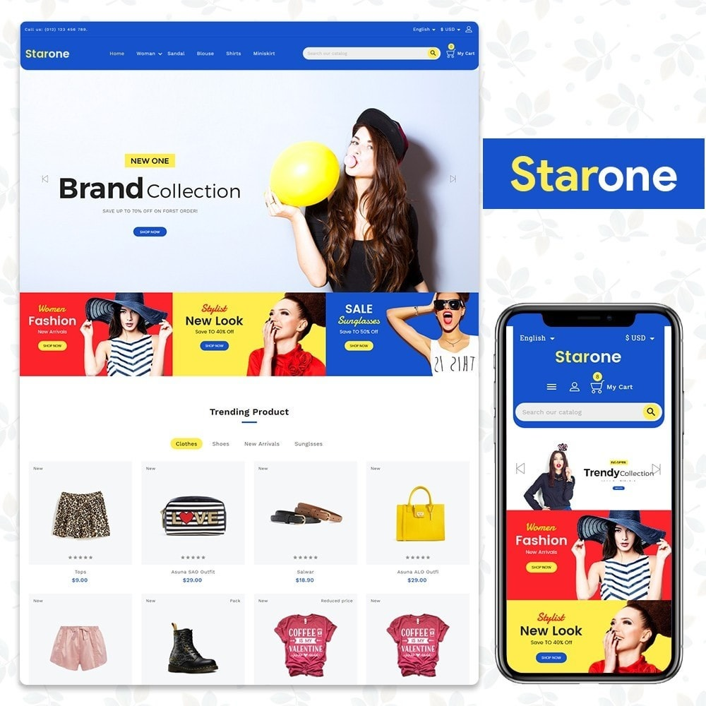 theme - Mode & Schuhe - Fashion Store - Star One Template - 1