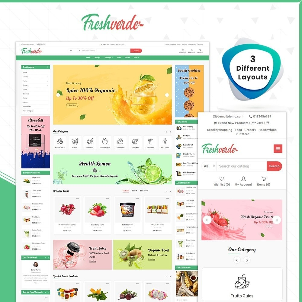 theme - Home & Garden - Épicerie Hverde - Fresh Grocery Shop - 1