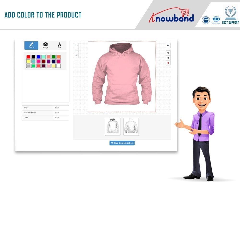 module - Combinations & Product Customization - Product Customizer/Designer - 3