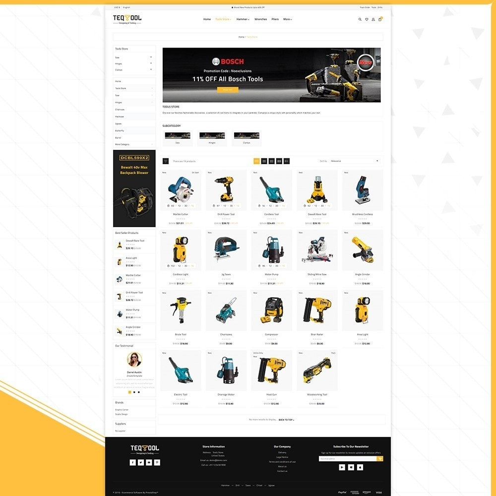 theme - Automotive & Cars - Teq Outils -Tools Store - 3