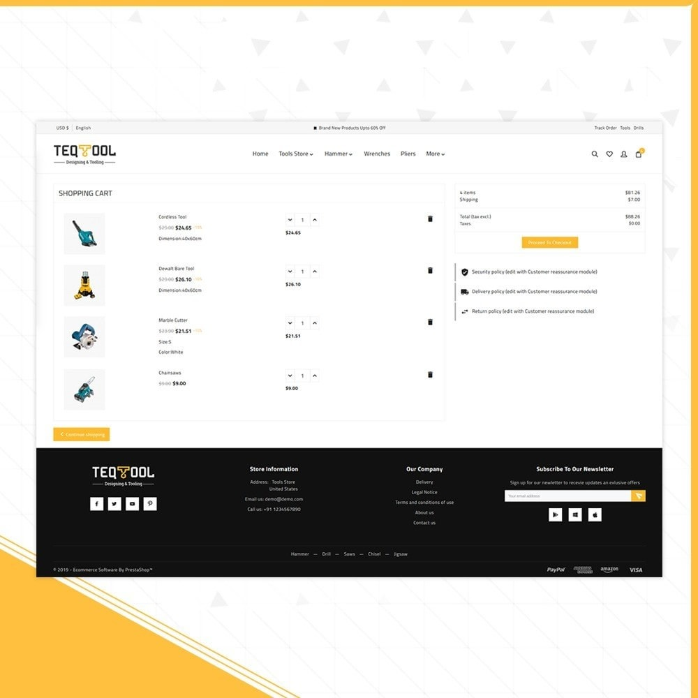 theme - Automotive & Cars - Teq Outils -Tools Store - 5