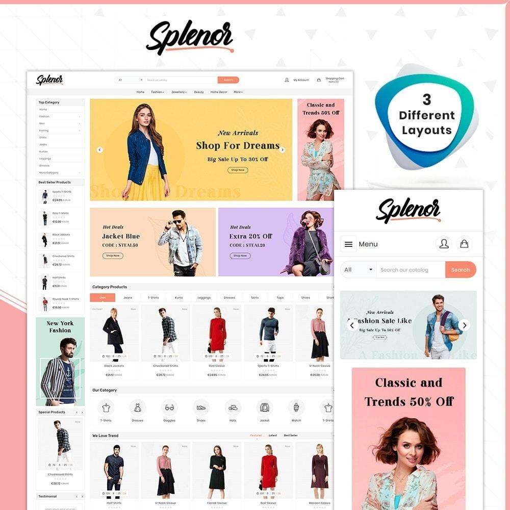 theme - Fashion & Shoes - Splenor - Fashion Style Shop - 1