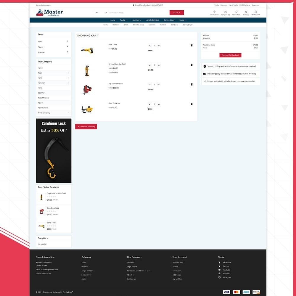 theme - Samochody - Master tools - Equipment Store - 5