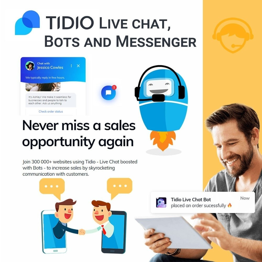 module - Support & Online-Chat - Tidio Live chat, Bots and Messenger - 1