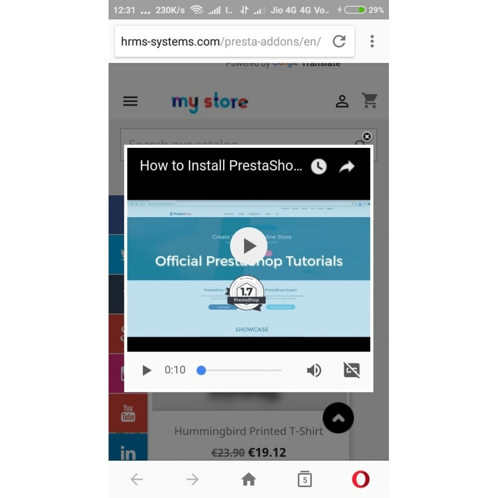module - Vidéo & Musique - Popup YouTube Video Multi-Device Compatible - 5